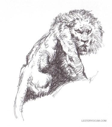 Sketch of a Frank Frazetta Lion