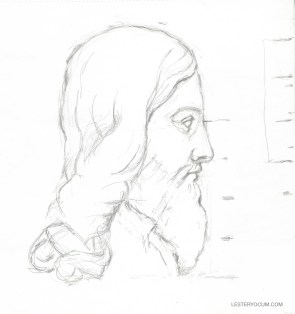 "Measurements Sketch from ""The Ideal Christ"""