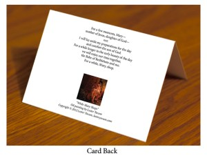 While Mary Sleeps Card Back 3D