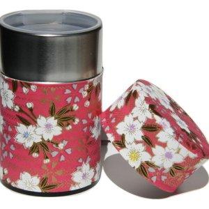 Boîte de conservation du thé recouvert de papier washi japonais