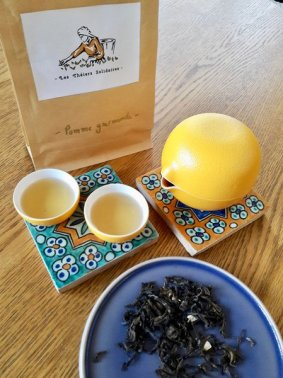 Thé vert thaÏlandais au goût de pomme et de cannelle
