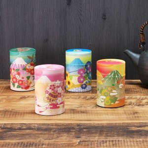 Collection boîtes de thé Fujisan illustrant les 4 saisons au Japon