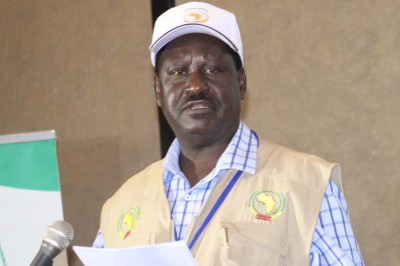 AU Head of Election Observer Mission Raila Odinga