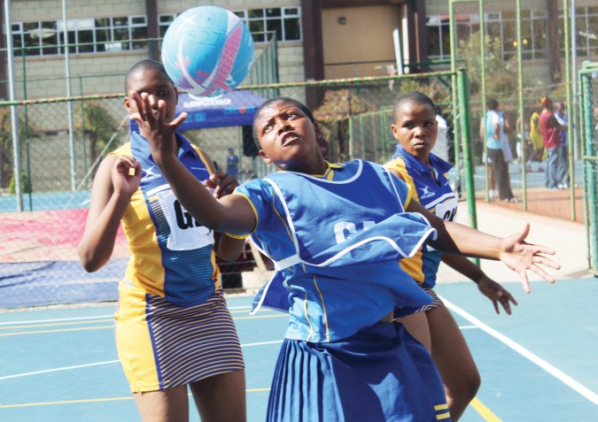 High School students during a netball tournamnet played at Lehakoe in this file picture