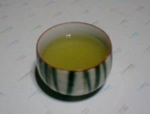Una tazza di tè verde