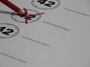 Scheda elettorale (foto di Lord Gordon)