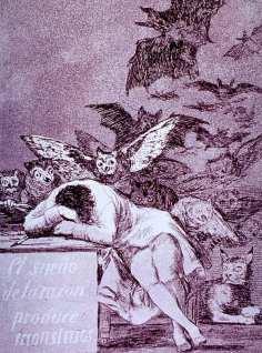 Francisco Goya - Il sonno della ragione genera mostri