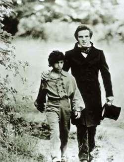 François Truffaut e Jean-Pierre Cargol (L'enfant sauvage, 1970)
