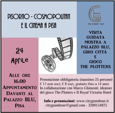 Locandina visita guidata Cinema PISA. CGT. 24 aprile