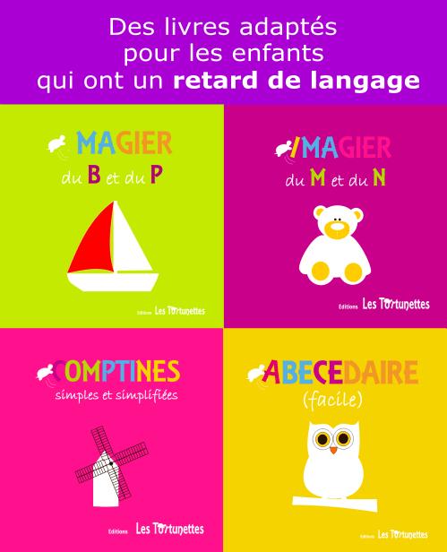 Des livres pour les enfants avec un retard de langage