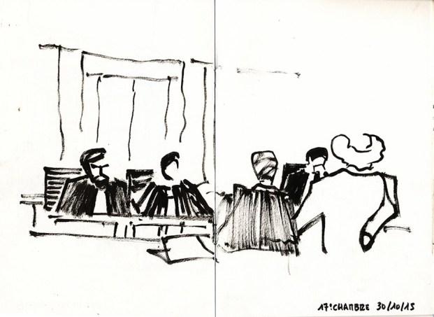"""J.-M. Ribes : « Qui agresse qui ? Quand pendant des jours les militants de Civitas défilaient devant mon théâtre en chantant """"Pendez ! Pendez ! Pendez Jean-Michel Ribes !"""" Qui incite à la haine ? » © Frédéric Chaume"""