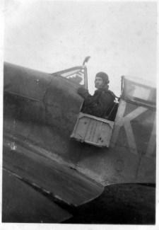 Spitfire pilots in cockpit Tommy Todd Hamilton