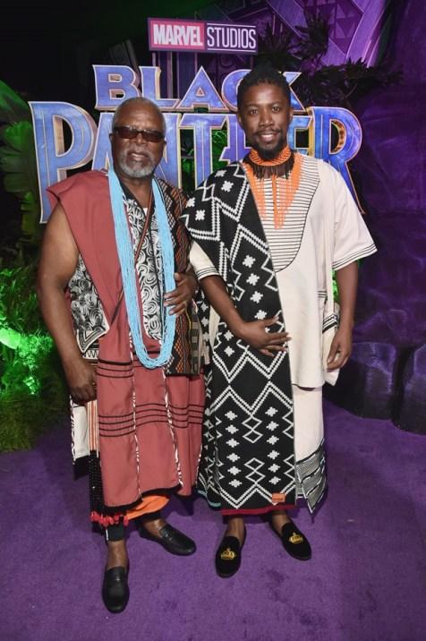 John and Atandwa Kani Premiere of Black Panther