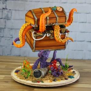 cours cake design coffre tresor