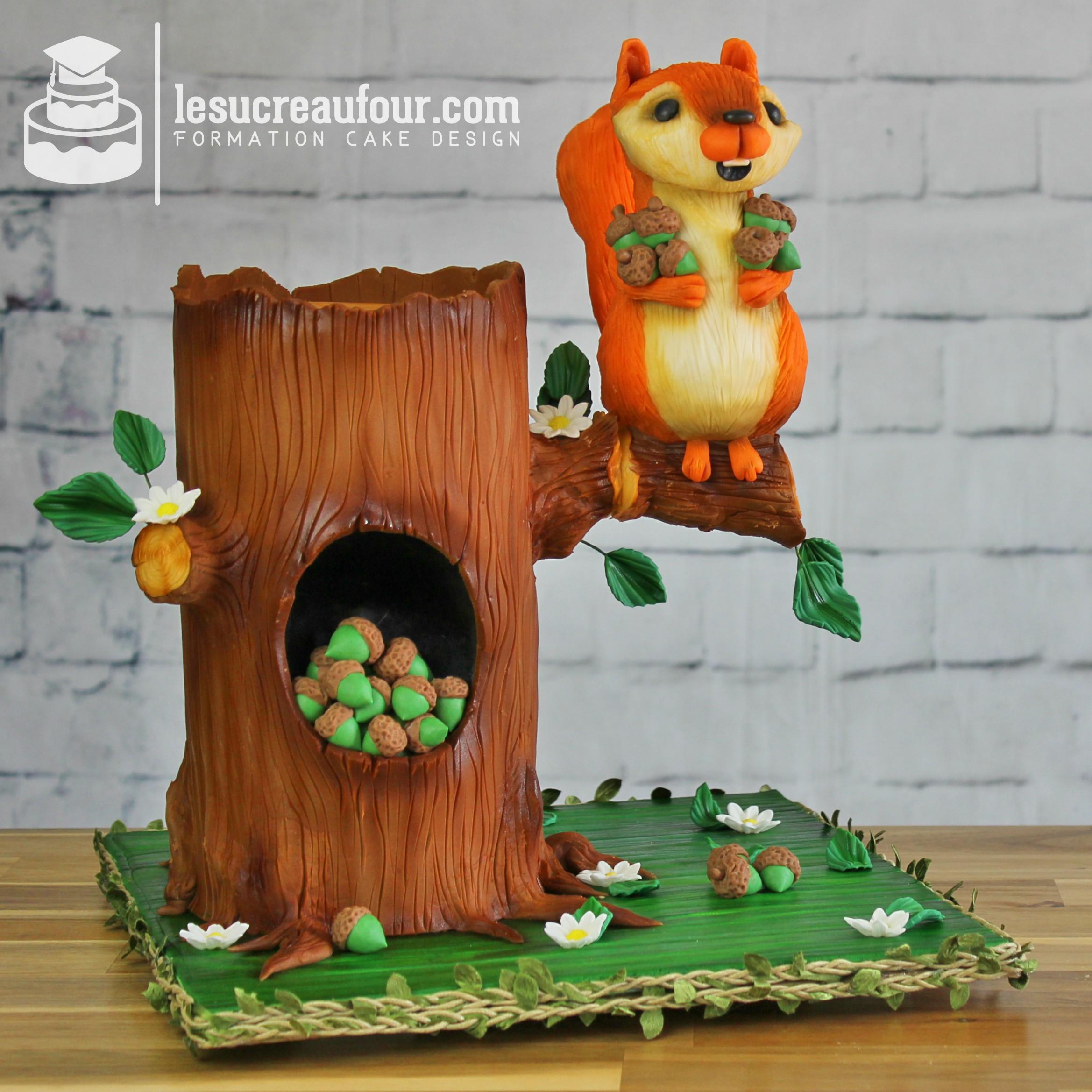 Cours De Cake Design En Ligne Gateau 3d Avec Structure Debutant