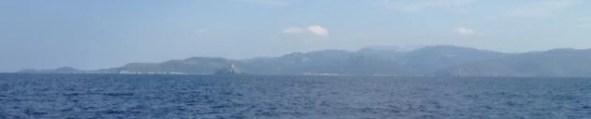 Le cap Corse, et au premier plan la petite île de Giraglia.