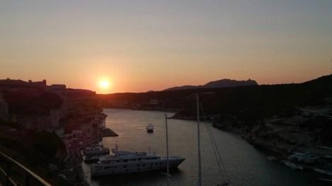 Coucher de soleil sur Bonifacio