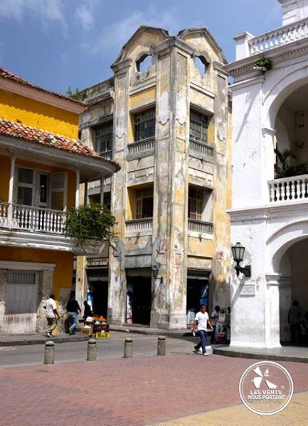Immeuble dans le centre historique de Cartagena en Colombie