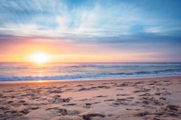 coucher de soleil au porge océan plus belle plage de la côte atlantique en france