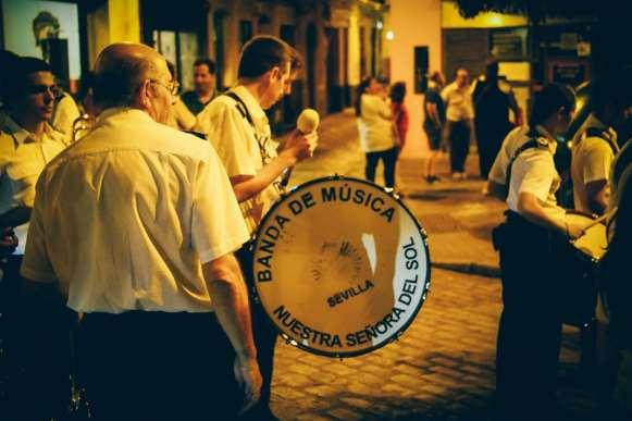 Banda de musica nuestra señora del sol à seville, voyage en espagne