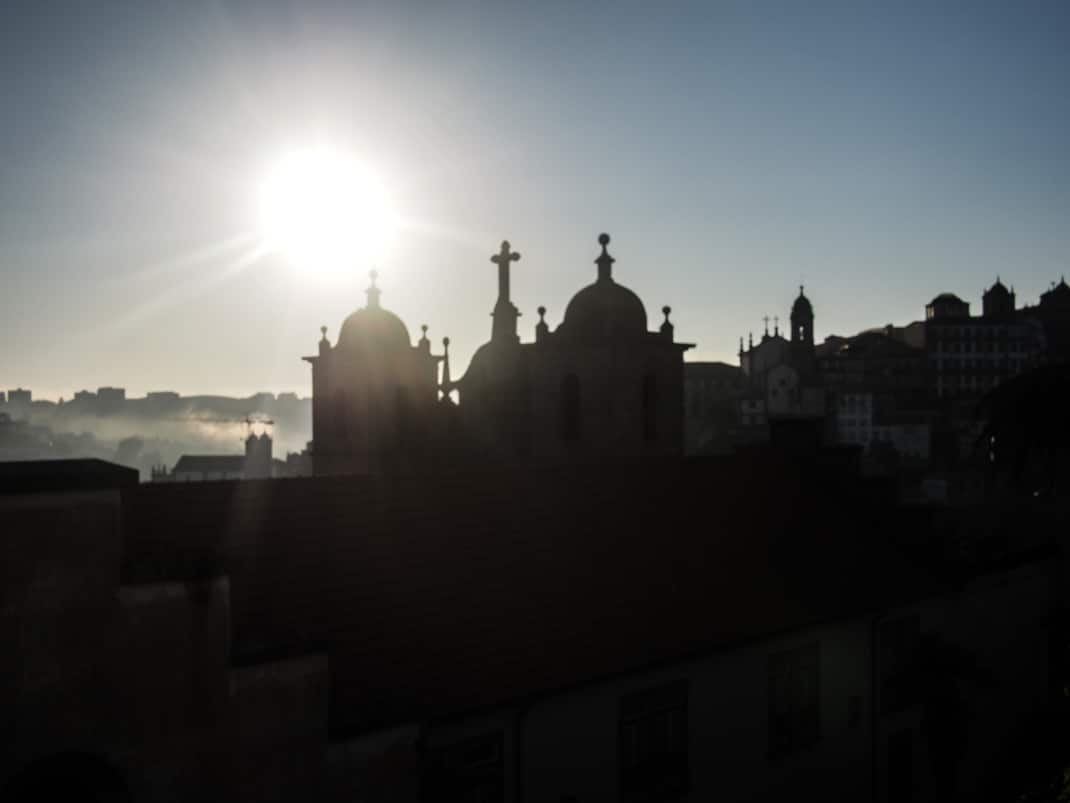 vue sur les hauteurs de porto voyage portugal