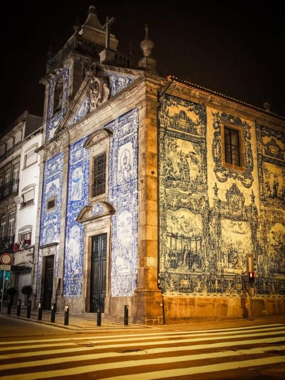 église santa catarina et ses azulejos de nuit a porto voyage portugal
