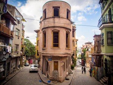 Immeuble célèbre du quartier juif de Balat à Istanbul