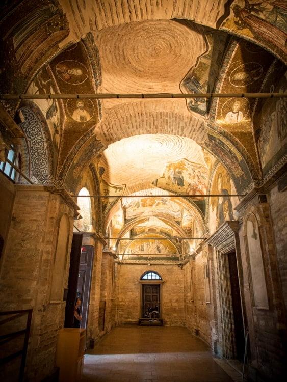 intérieur de l'église saint sauveur in chora à istanbul