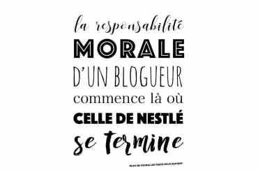 la responsabilité morale du blogueur voyage commence là où celle de nestlé se termine - citation du blog de voyage les vents nous portent - Samuel Bourille