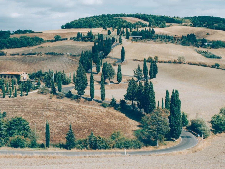 paysage typique des routes de toscane
