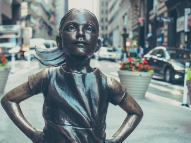 fearless girl girl new york voyage visite financial district lower manhattan