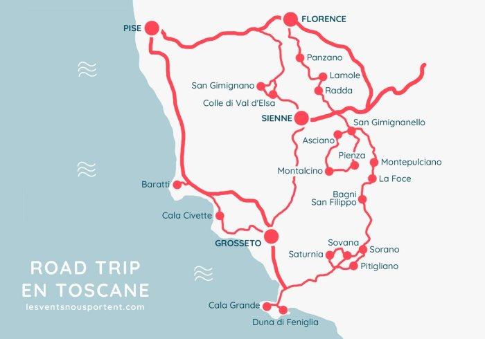 Itinéraire road trip en Toscane, vacances en Italie