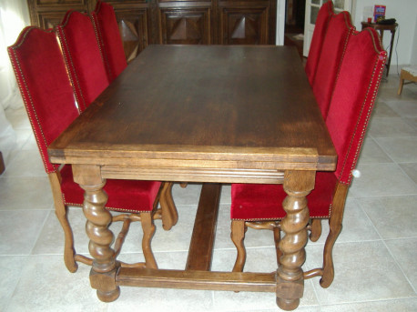 table chene massif style louis xiii ancien