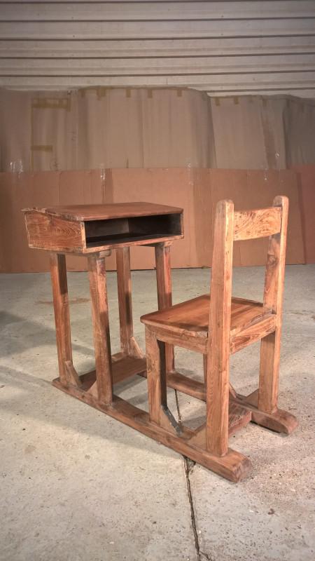 Set Chaise Et Pupitre Dcolier Ancien Les Vieilles Choses