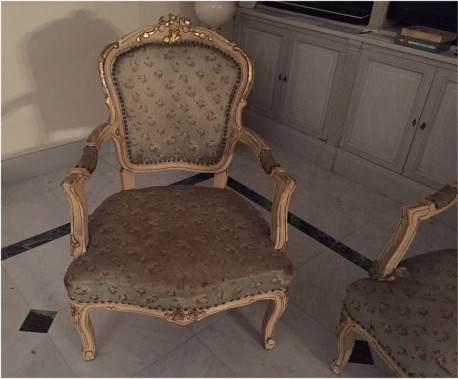 ensemble de fauteuils style louis xvi anciens