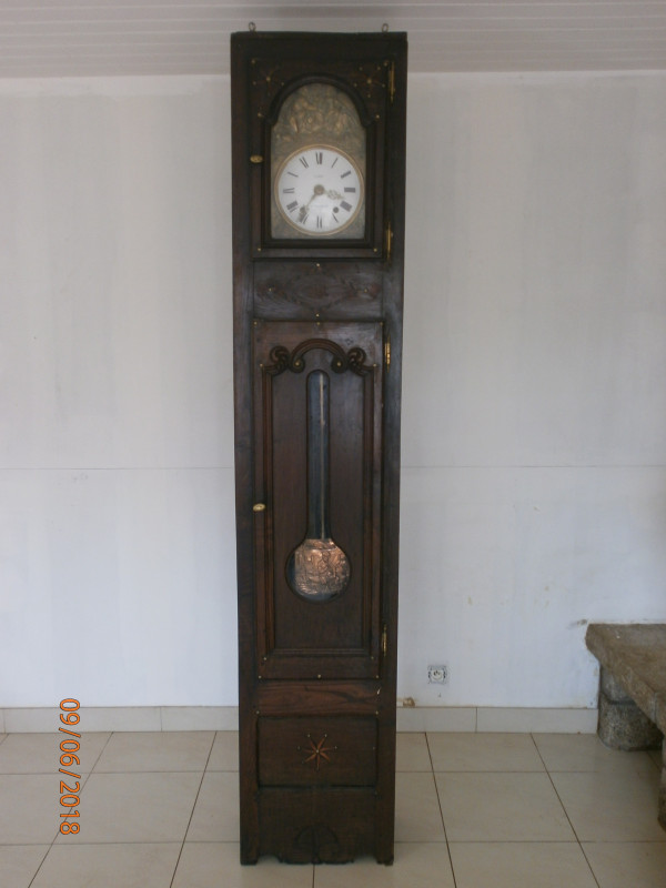 horloge bois ancienne