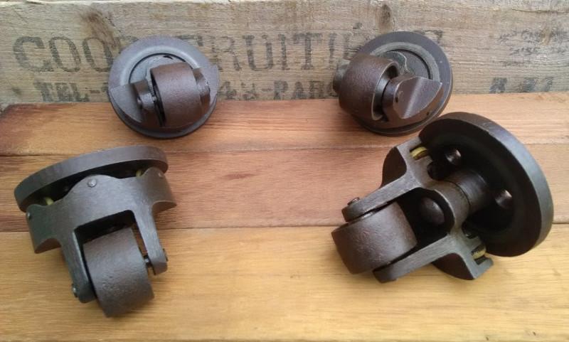 roulettes anciennes industrielles