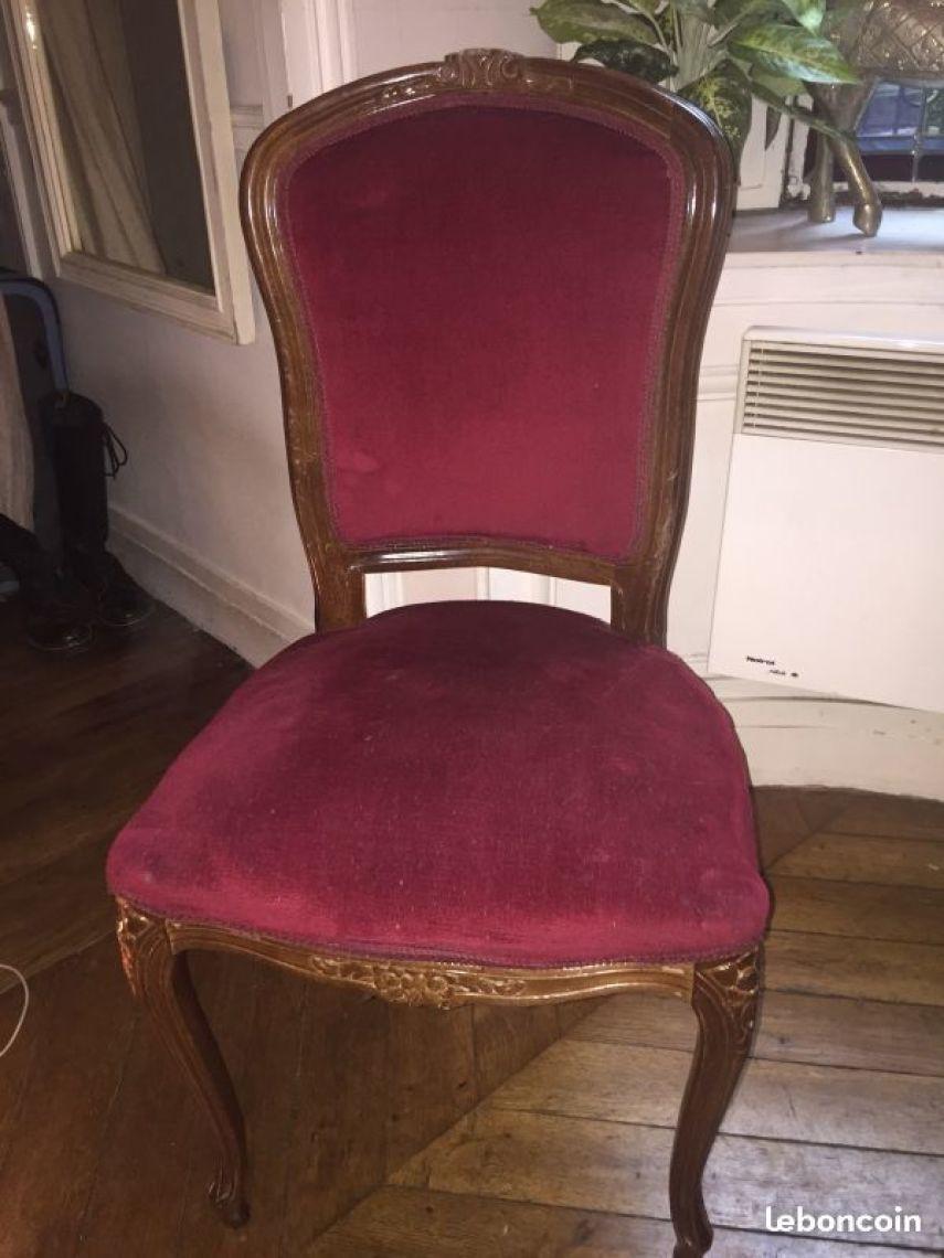chaise ancienne en bois et velours xixe les vieilles choses
