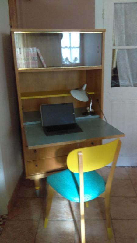secretaire vintage bureau avec sa chaise precedent suivant