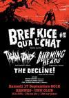 "17 septembre 2016 The Decline!, Burning Heads, Tagada Jones à Rennes ""L'Ubu"""