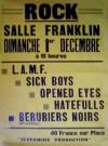 """1er decembre 1985 LAMF, Sick Boys, Opened Eyes, Hatefulls, Berurier Noir au Havre """"Salle Franklin"""""""
