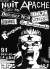 """6 décembre 1985 Chihuahua, Les Endimanchés, Ludwig Von 88, Les Rouquins, Berurier Noir à Paris """"Théatre du Quai de la Gare"""""""