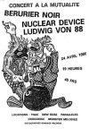"""24 avril 1986 Ludwig Von 88, Nuclear Device, Berurier Noir à Paris """"Salle de la Mutualité"""""""