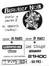 """18 mars 1988 Whizkids, Ludwig Von 88, Berurier Noir à Chantenay Sur Loire """"Magestic"""""""