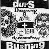 "8 avril 1990 Scratching Dups, Burning Heads à Orléans ""Bar du Commerce"""