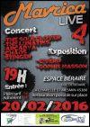 """20 fevrier 2016 The soulclover, The Lunatiks, Arcadya, Chaos, Stinger à La Chapelle Saint Mesmin """"Espace Beraire"""""""