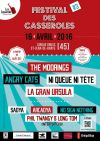 "16 avril 2016 Sadya, Arcadya, No Sign Nothing, Phil Twangy & Long Tom, Angry Cats, Ni queue ni tête, the Moorings, La Gran Ursula à Saint Jean de Braye ""Cirque Gruss"""