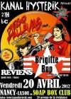 "20 avril 2012 Diego Pallavas, Brigitte Bop, Reviens à Laxou ""Soap Box Club"""