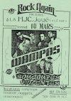 """10 mars 1989 Les Soucoupes Violentes, les Wampas à Joué les Tours """"MJC"""""""