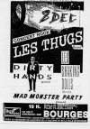 "8 Décembre 1990 Shaking Dolls, Mad Monster Party, Dirty Hands, les Thugs à Bourges ""Salle Germinal"""